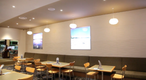 completed commercial renovation using wall panels