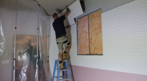 interior renovation and wall panels installation